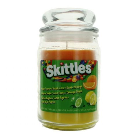 Sour Lemon, Lime & Orange  Scented - Skittles Large Jar Candle 130 Hours
